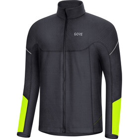 GORE WEAR M Thermo Langarm Zip Shirt Herren black/neon yellow